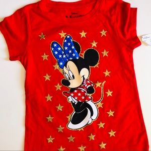Minnie Mouse Tee perfect for 4th of July!! NWT